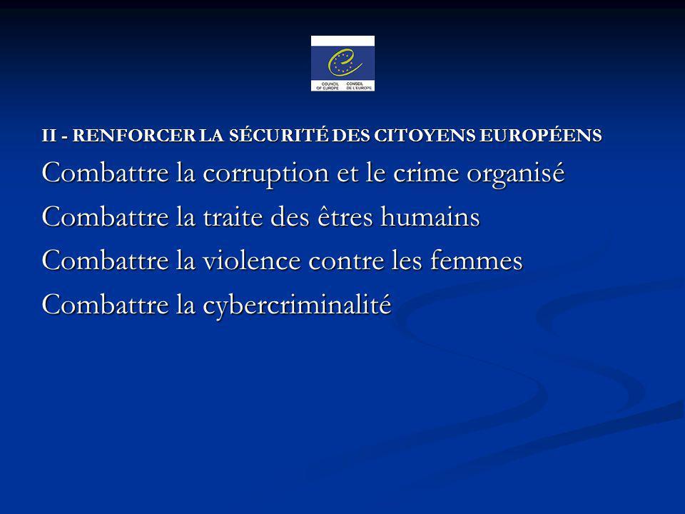 Combattre la corruption et le crime organisé