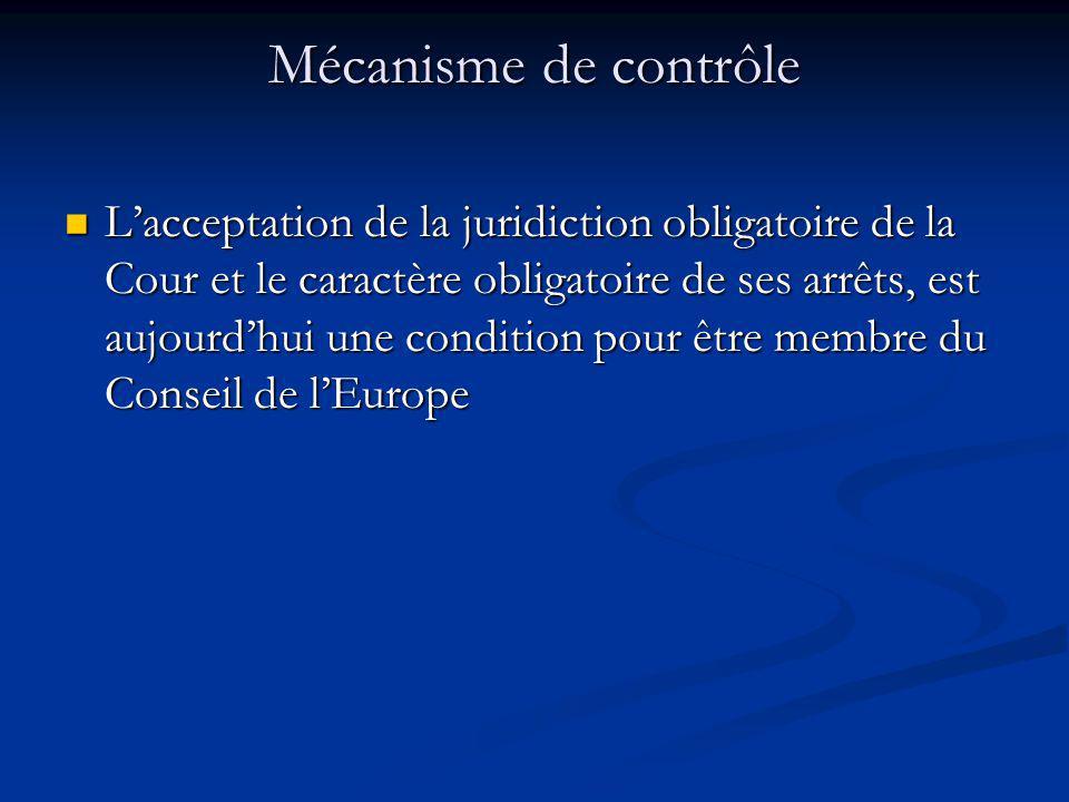 Mécanisme de contrôle