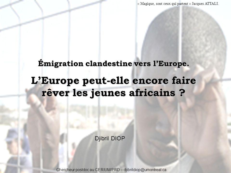 Émigration clandestine vers l'Europe.