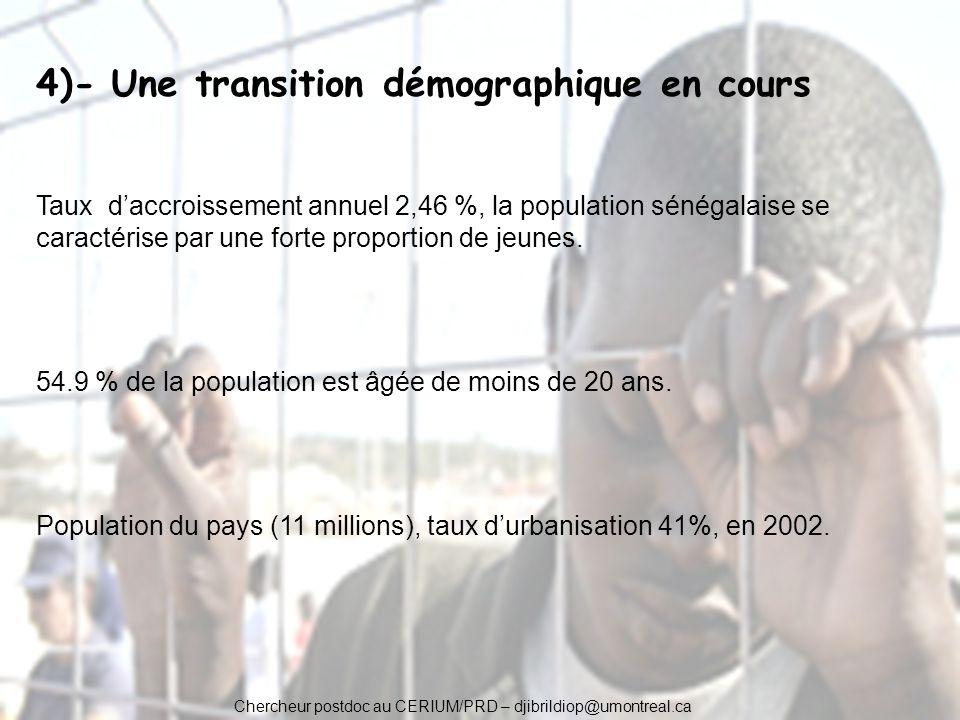 4)- Une transition démographique en cours