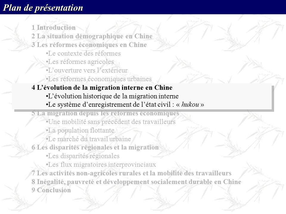 Plan de présentation 1 Introduction