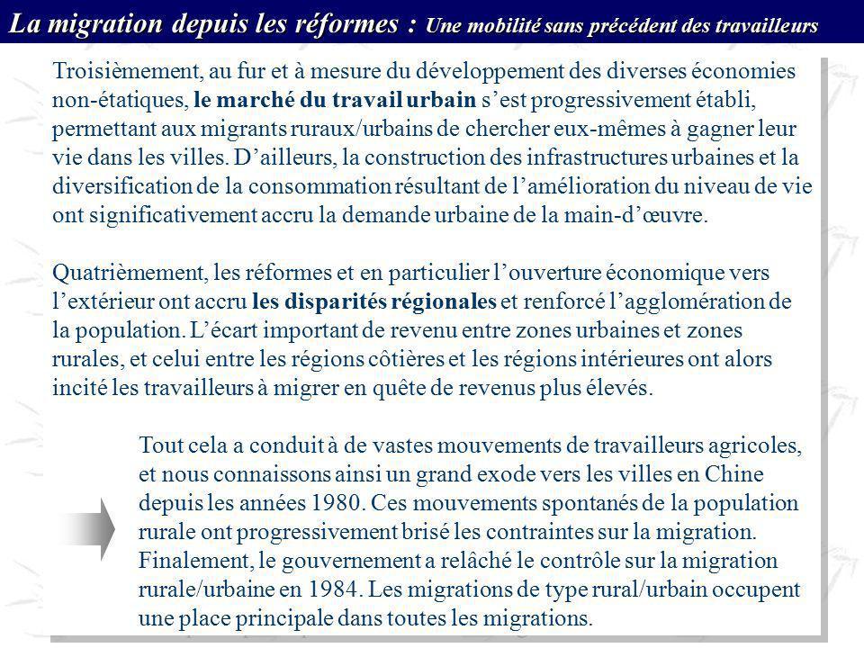 La migration depuis les réformes : Une mobilité sans précédent des travailleurs