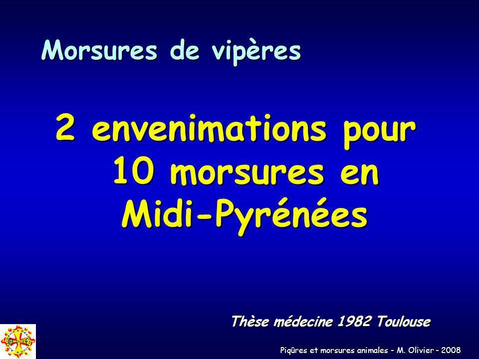 2 envenimations pour 10 morsures en Midi-Pyrénées