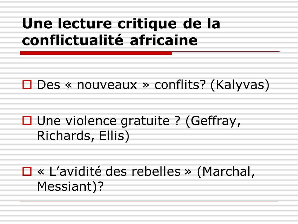 Une lecture critique de la conflictualité africaine