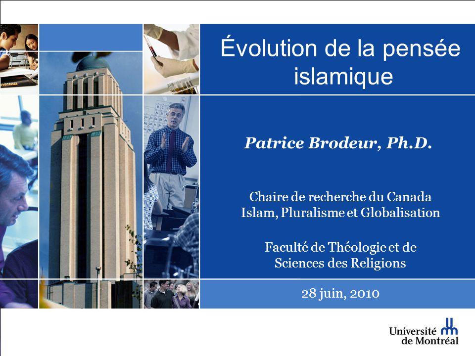 Évolution de la pensée islamique