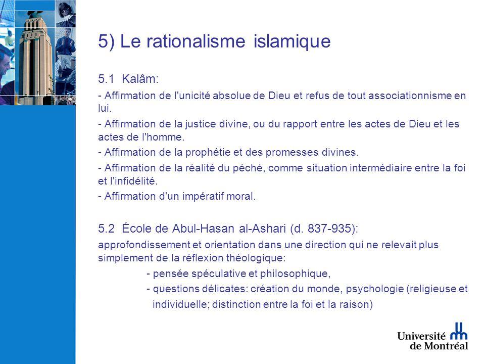 5) Le rationalisme islamique