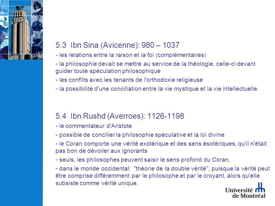 5.4 Ibn Rushd (Averroes): 1126-1198