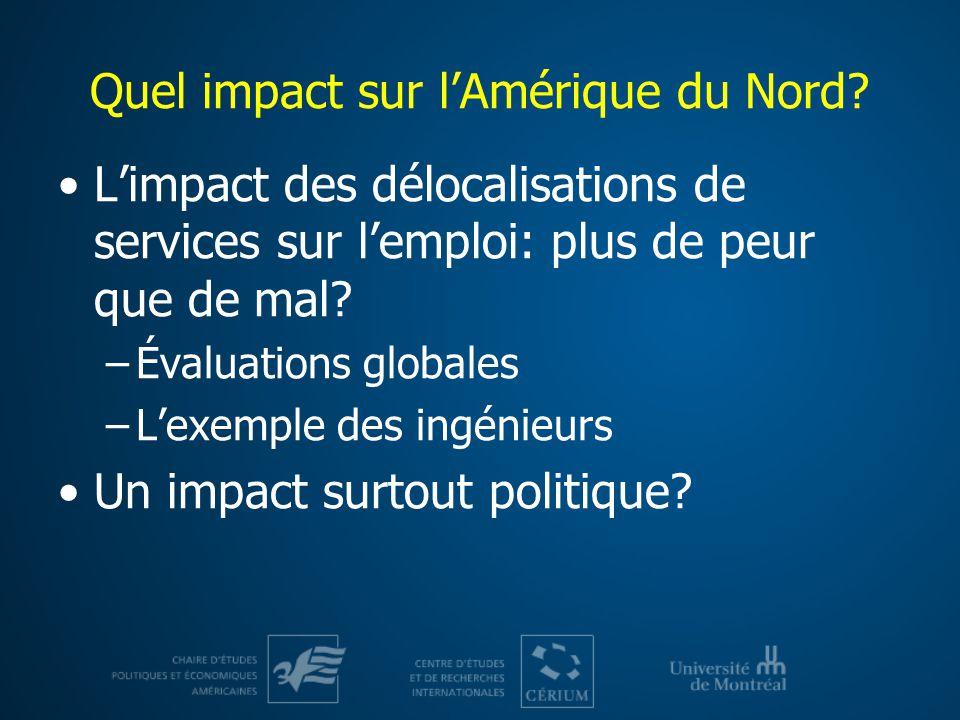 Quel impact sur l'Amérique du Nord