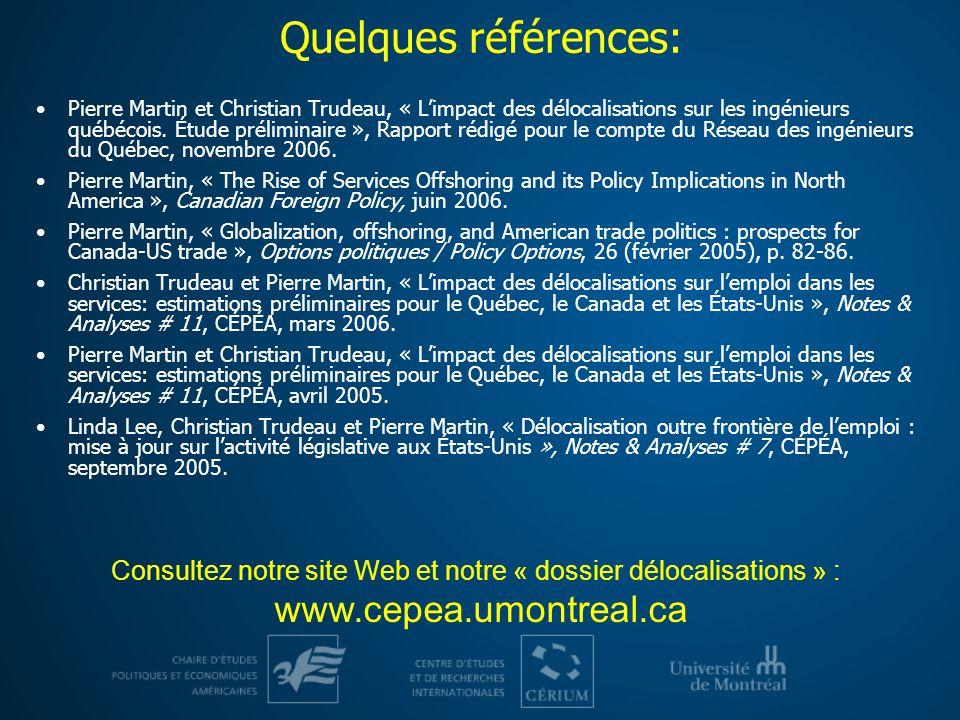 Consultez notre site Web et notre « dossier délocalisations » :