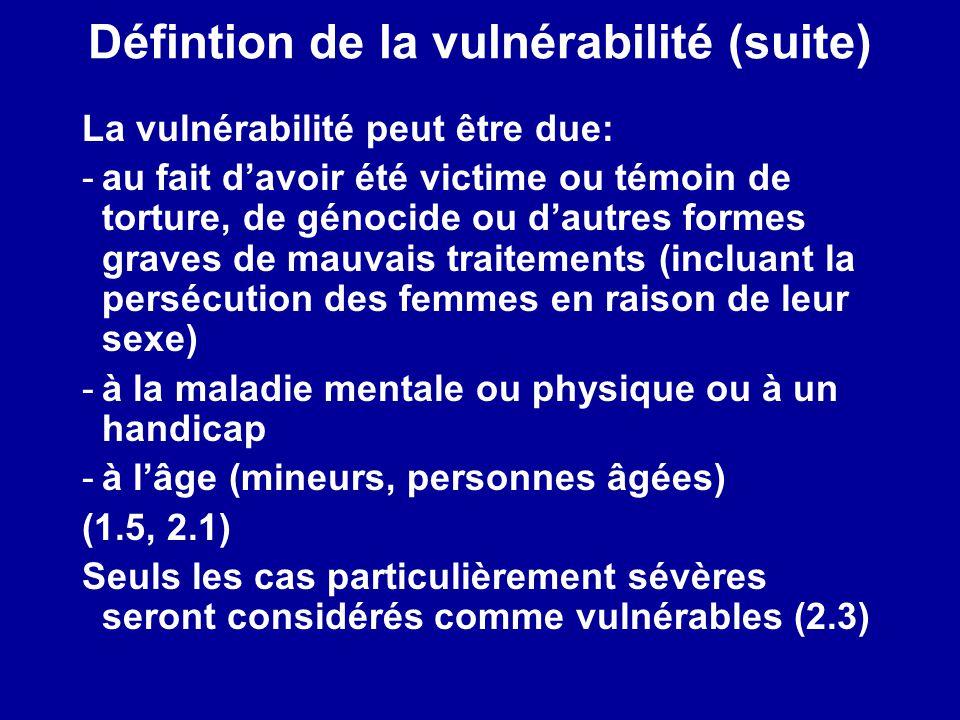 Défintion de la vulnérabilité (suite)