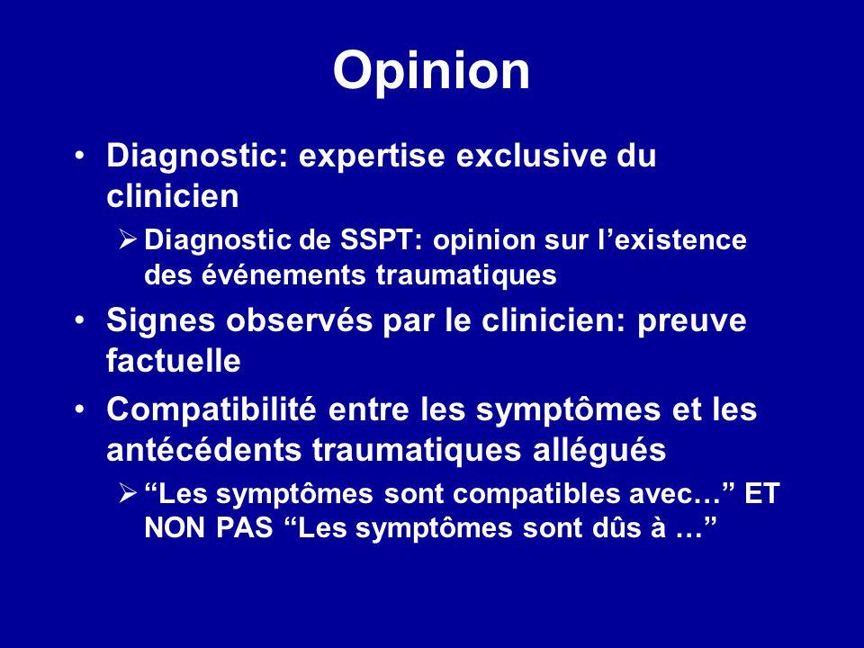 Opinion Diagnostic: expertise exclusive du clinicien