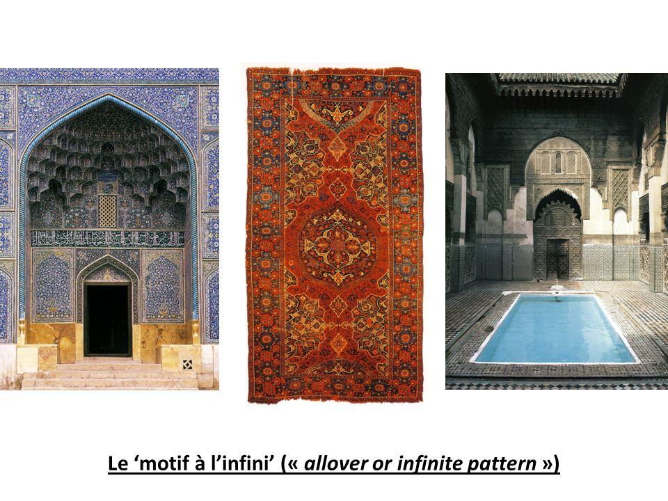 Le 'motif à l'infini' (« allover or infinite pattern »)
