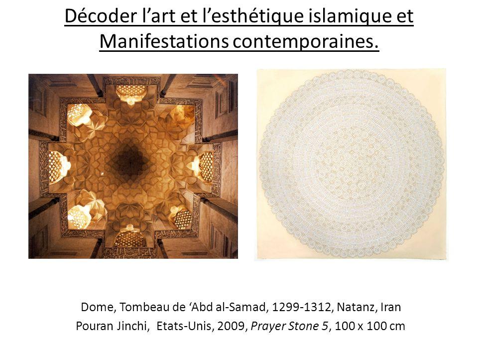 Décoder l'art et l'esthétique islamique et Manifestations contemporaines.