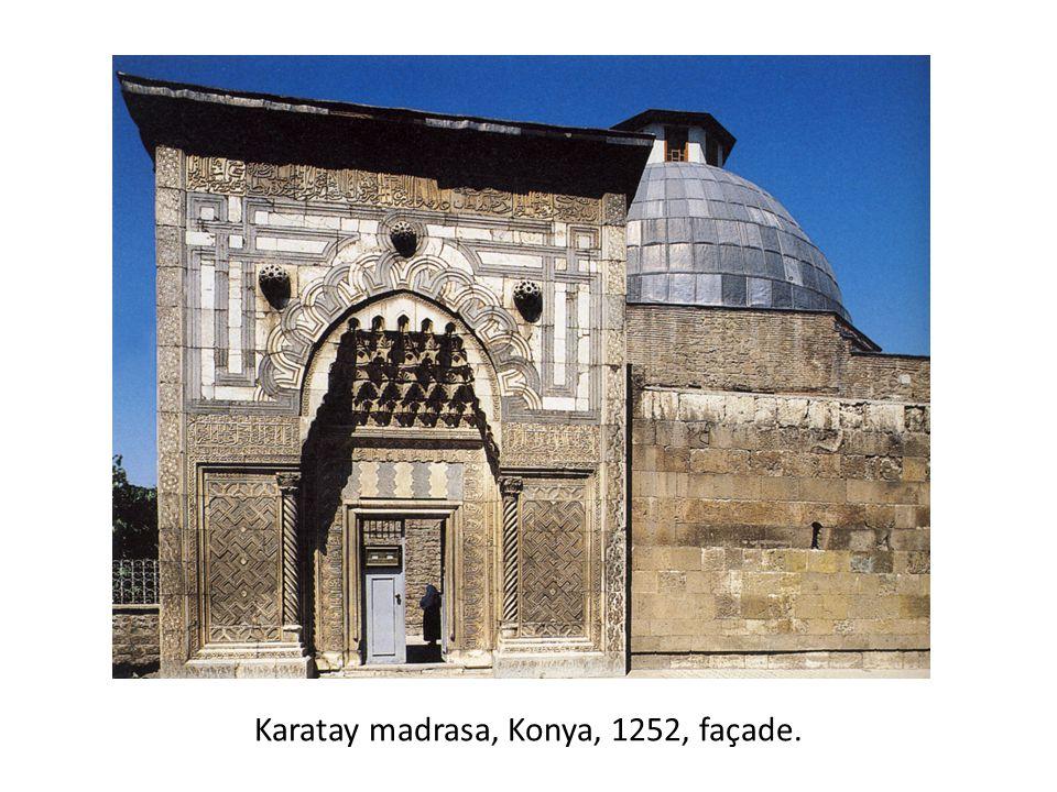 Karatay madrasa, Konya, 1252, façade.