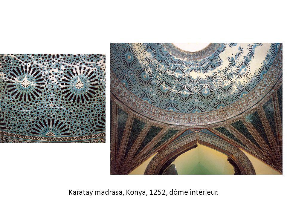 Karatay madrasa, Konya, 1252, dôme intérieur.