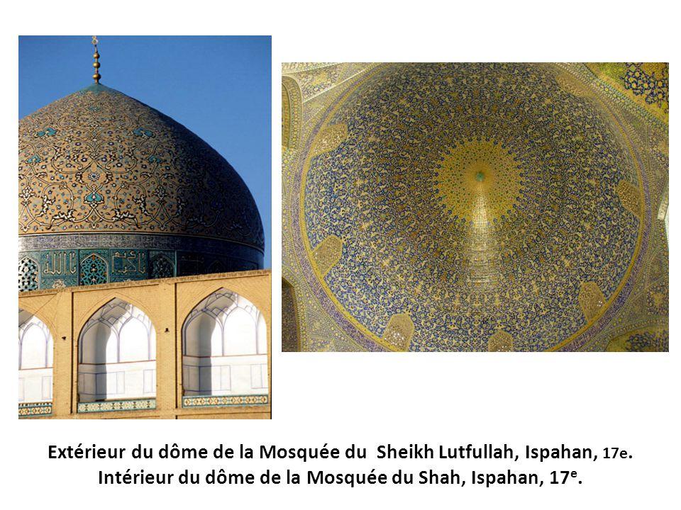 Extérieur du dôme de la Mosquée du Sheikh Lutfullah, Ispahan, 17e