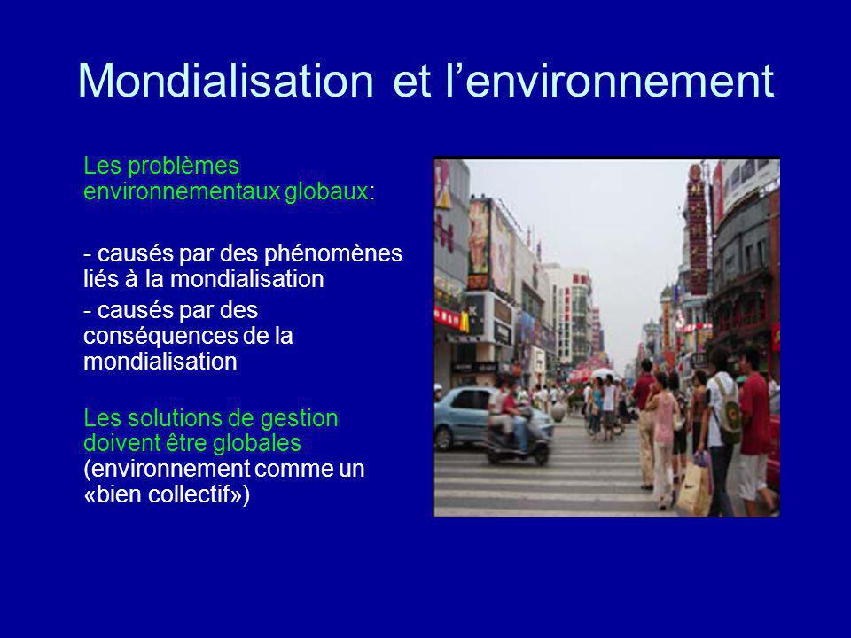 Mondialisation et l'environnement