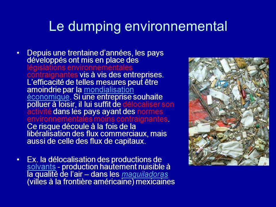 Le dumping environnemental