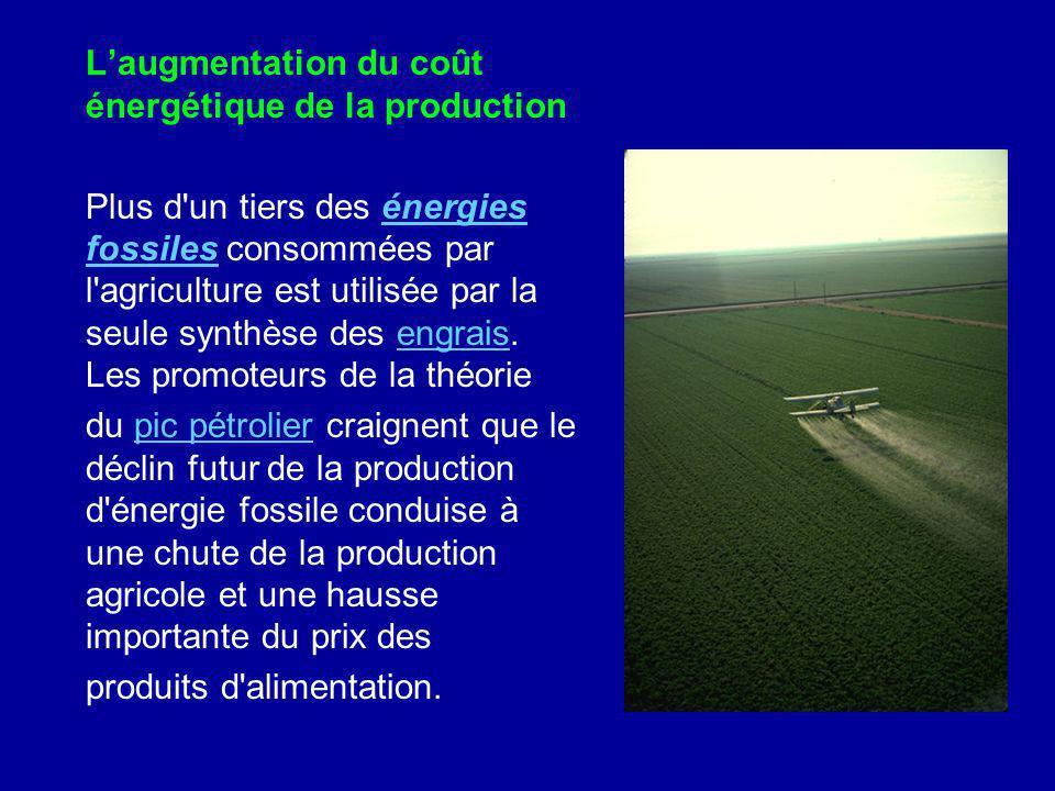 L'augmentation du coût énergétique de la production