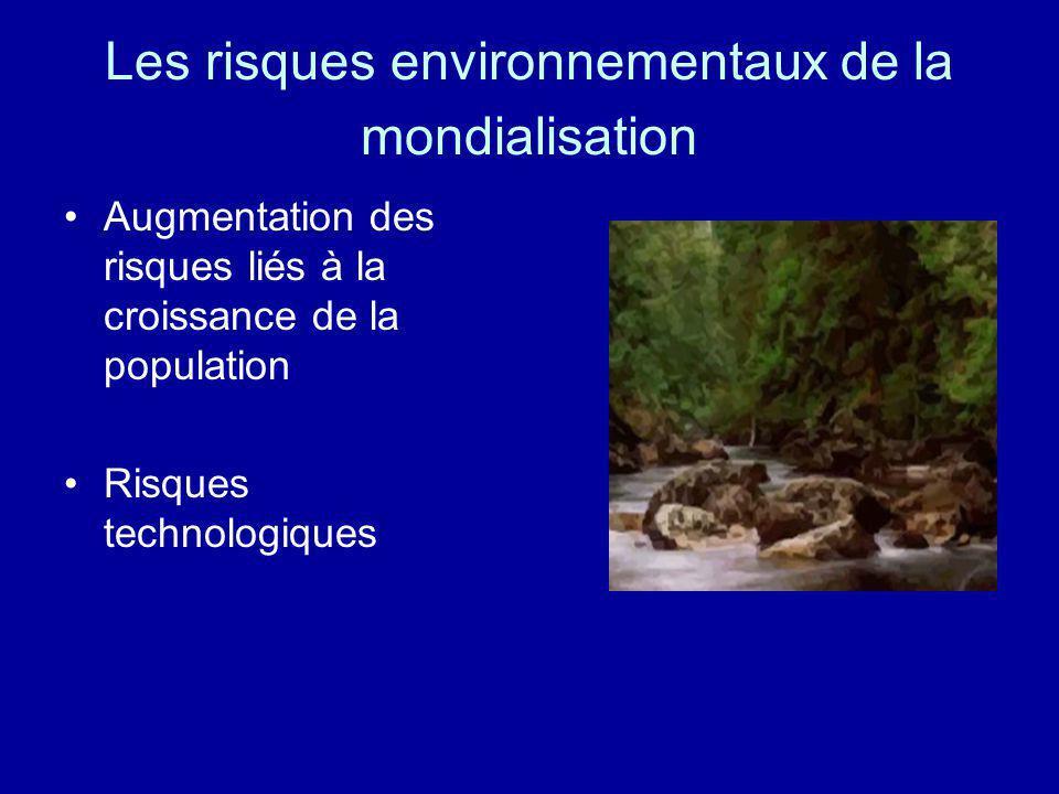 Les risques environnementaux de la mondialisation
