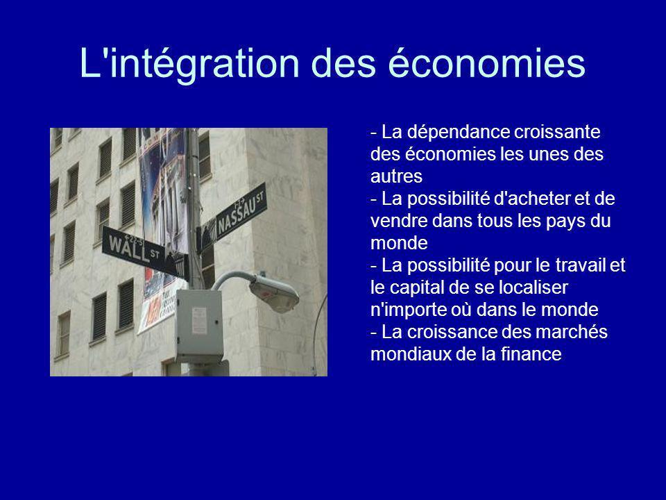 L intégration des économies