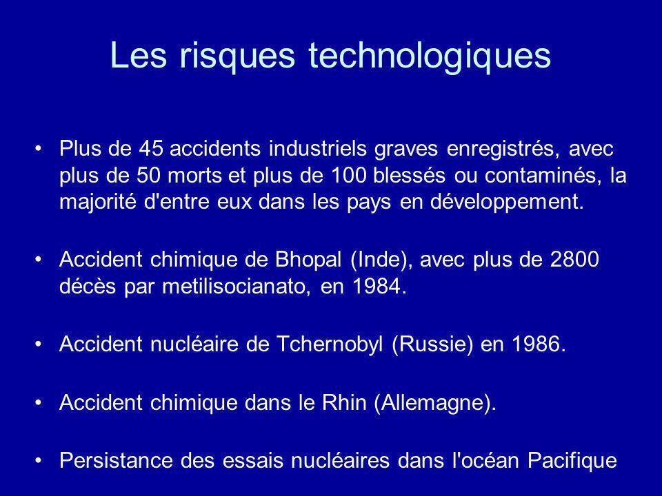 Les risques technologiques
