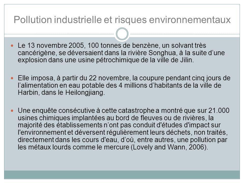 Pollution industrielle et risques environnementaux