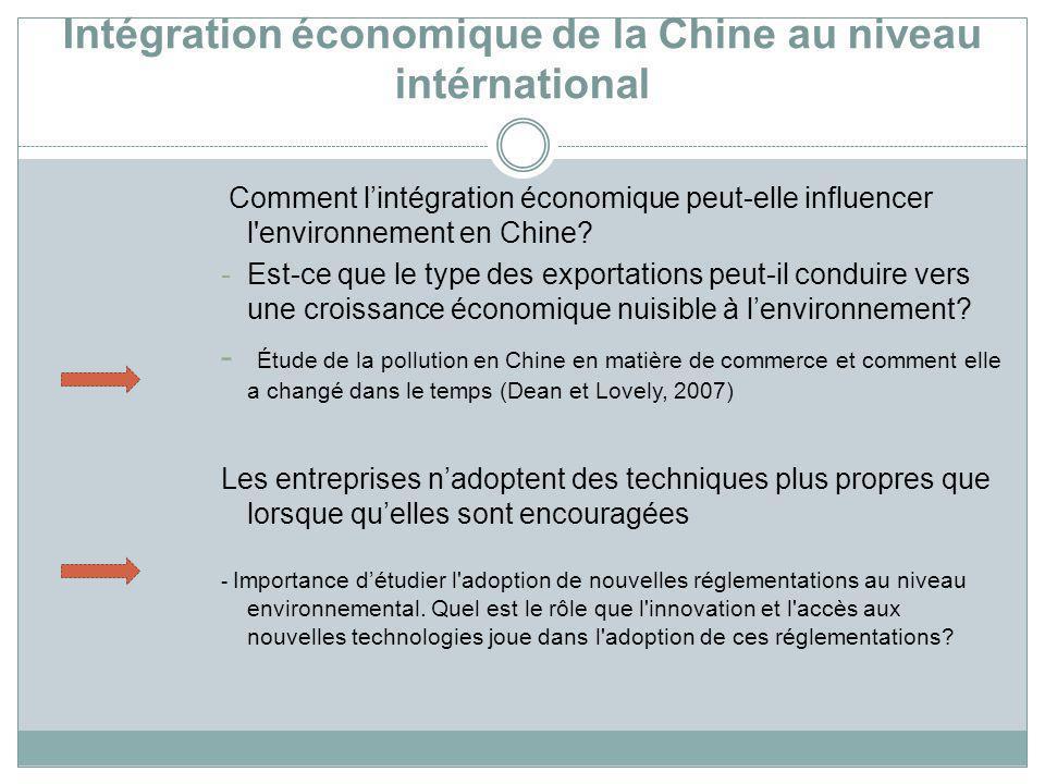 Intégration économique de la Chine au niveau intérnational