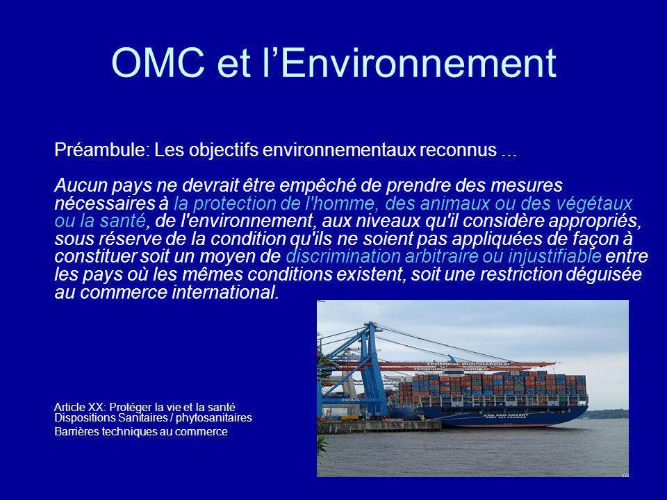 OMC et l'Environnement