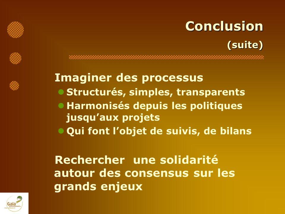 Conclusion Imaginer des processus