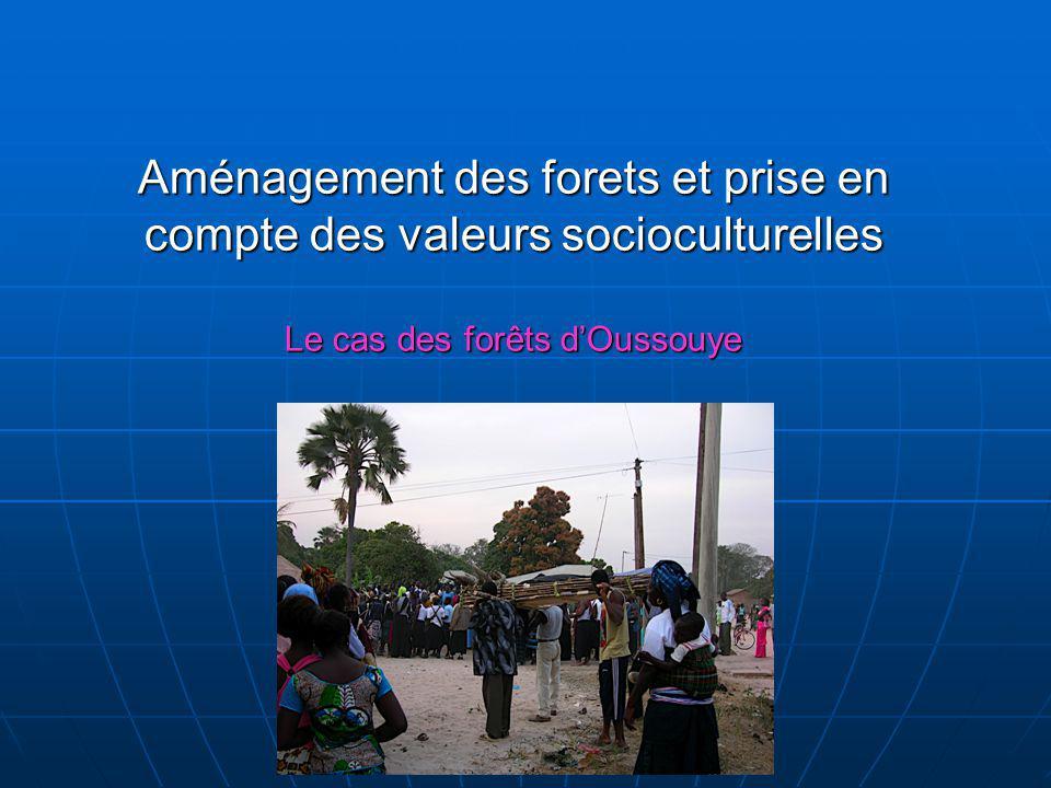 Aménagement des forets et prise en compte des valeurs socioculturelles Le cas des forêts d'Oussouye