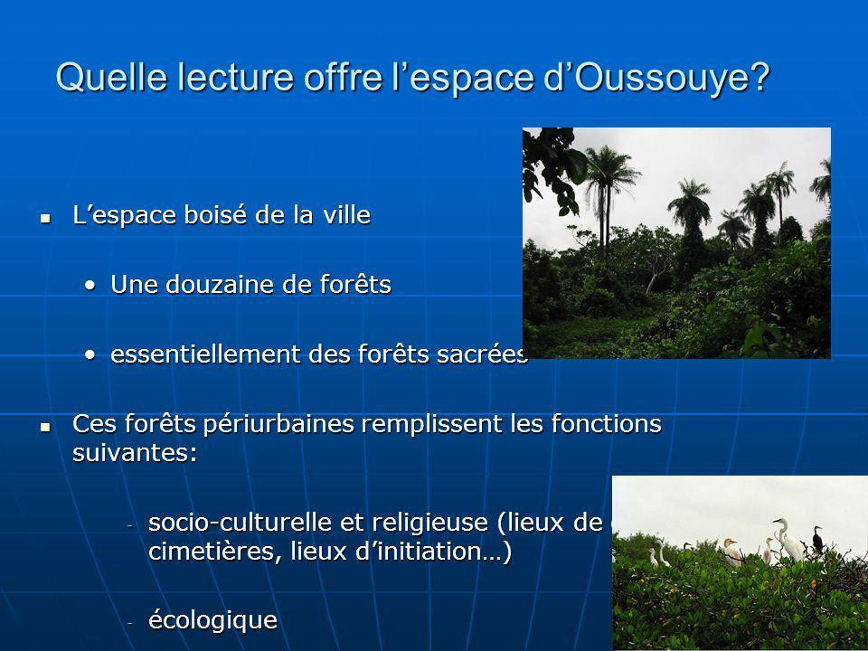 Quelle lecture offre l'espace d'Oussouye