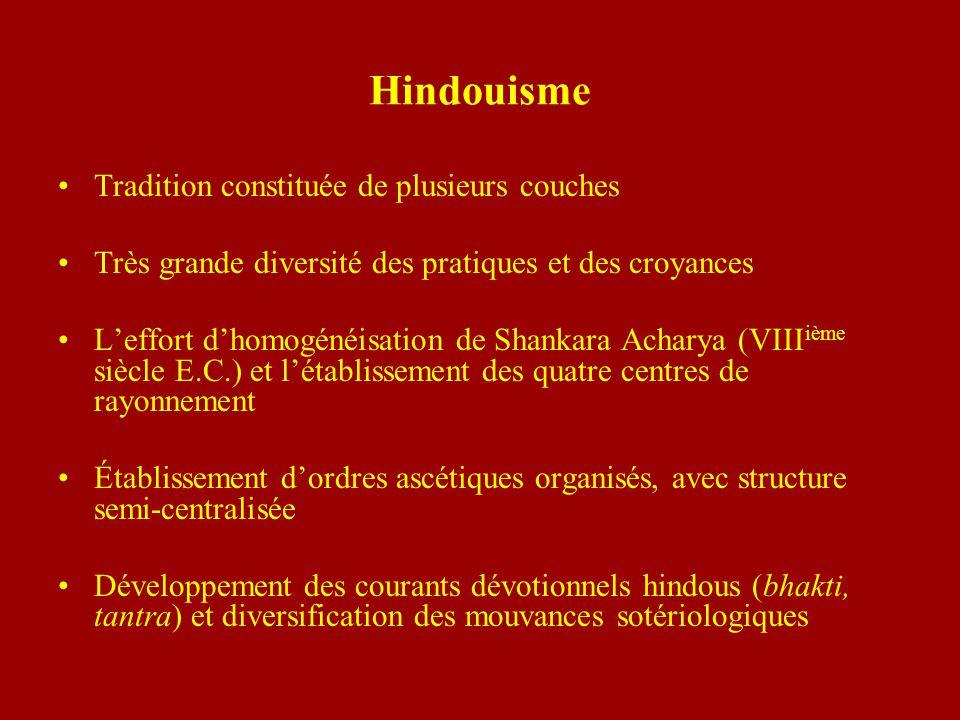 Hindouisme Tradition constituée de plusieurs couches