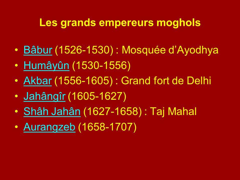 Les grands empereurs moghols