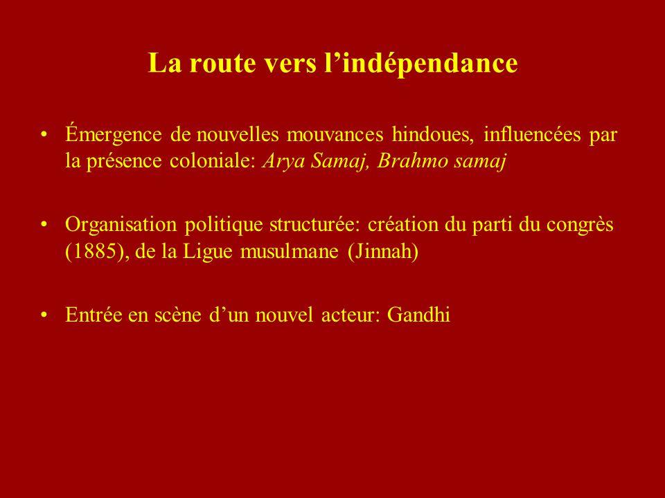 La route vers l'indépendance