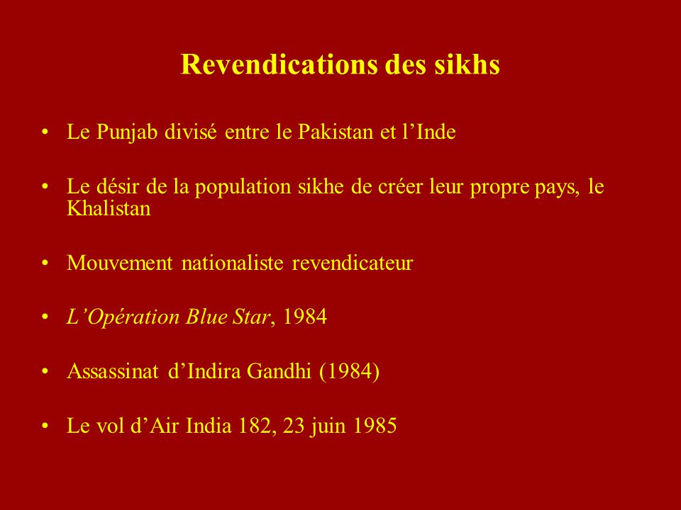 Revendications des sikhs