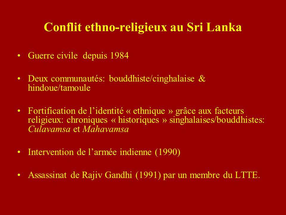 Conflit ethno-religieux au Sri Lanka