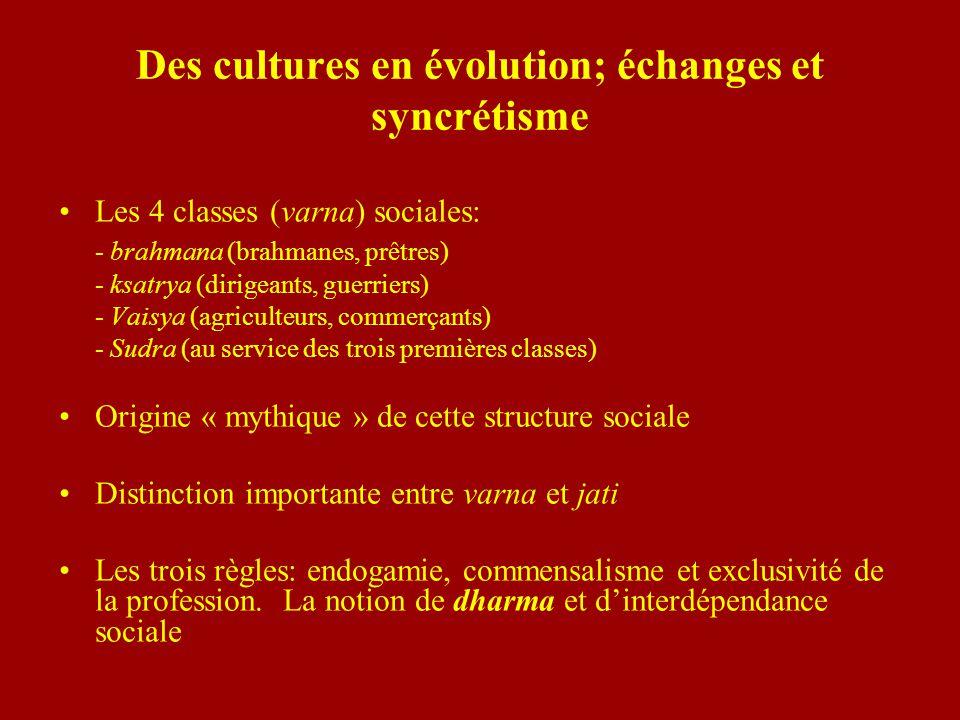 Des cultures en évolution; échanges et syncrétisme