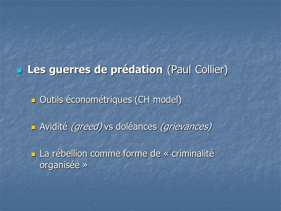 Les guerres de prédation (Paul Collier)