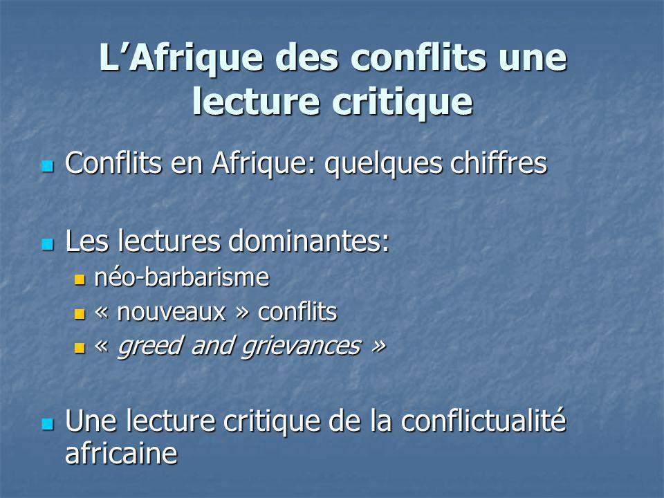 L'Afrique des conflits une lecture critique