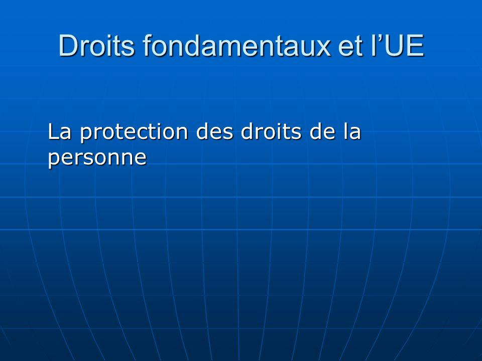 Droits fondamentaux et l'UE