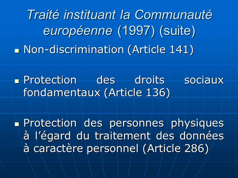 Traité instituant la Communauté européenne (1997) (suite)