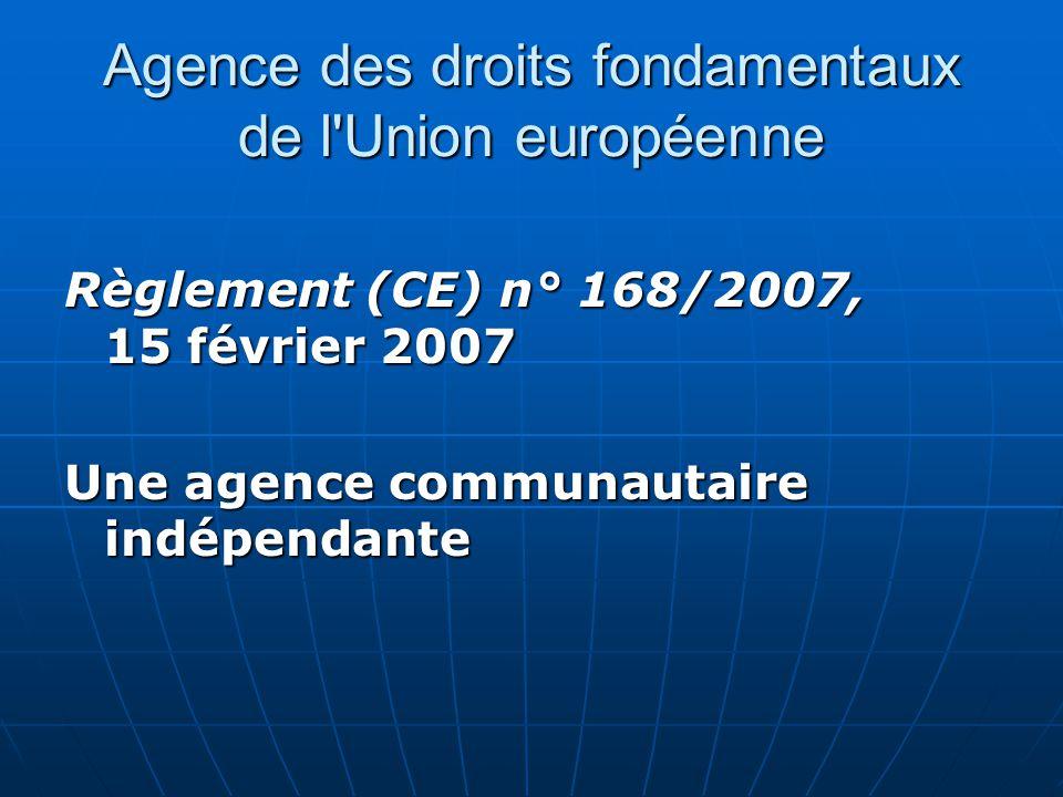 Agence des droits fondamentaux de l Union européenne