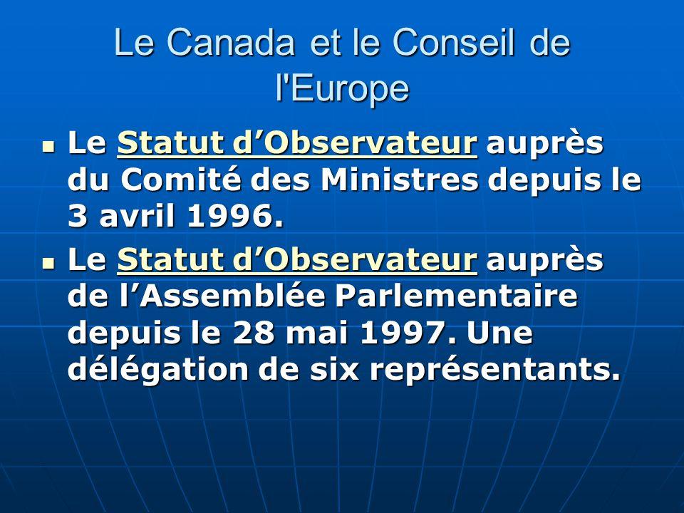 Le Canada et le Conseil de l Europe