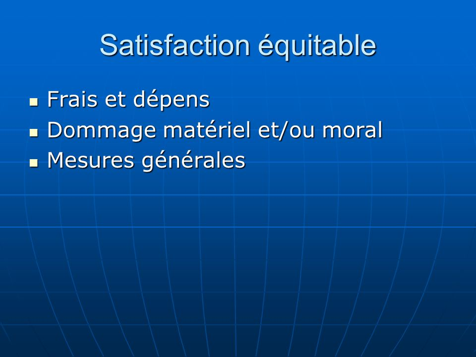 Satisfaction équitable