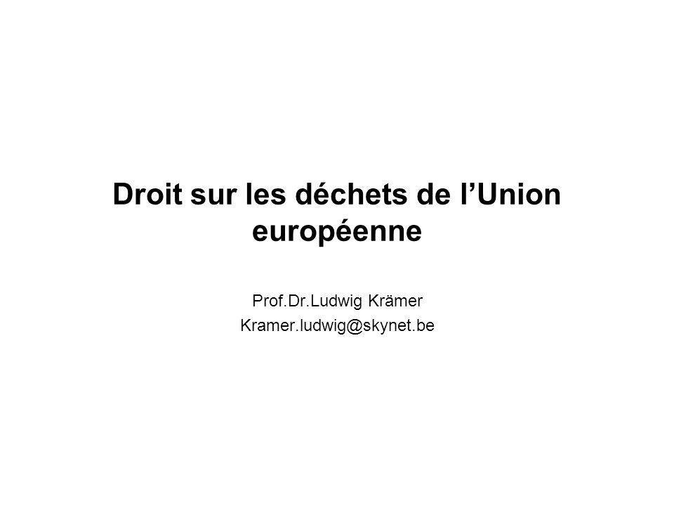 Droit sur les déchets de l'Union européenne