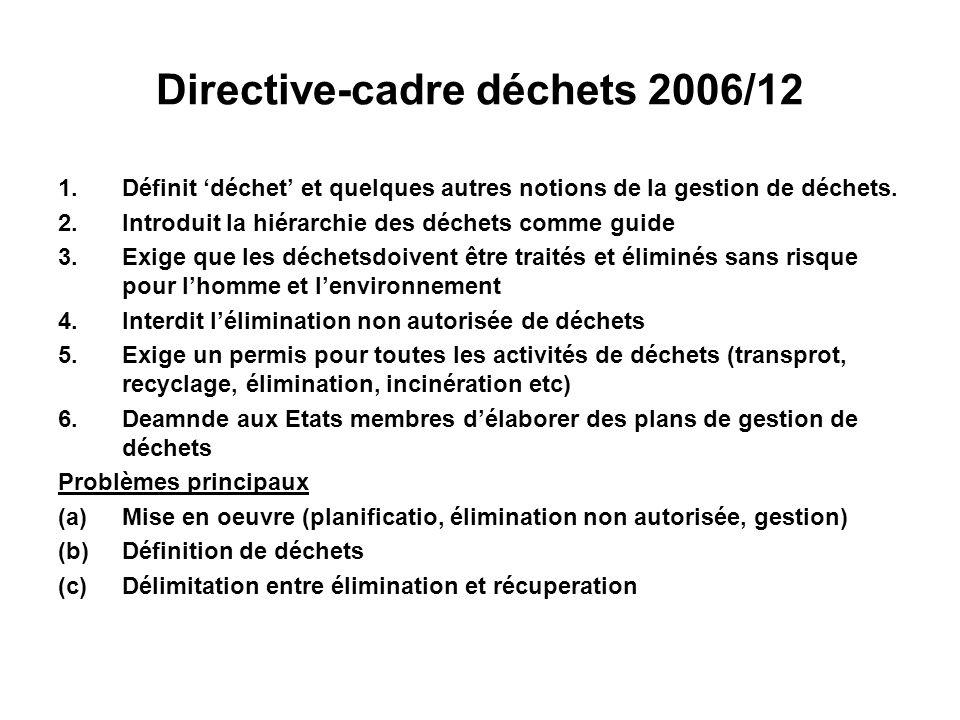 Directive-cadre déchets 2006/12