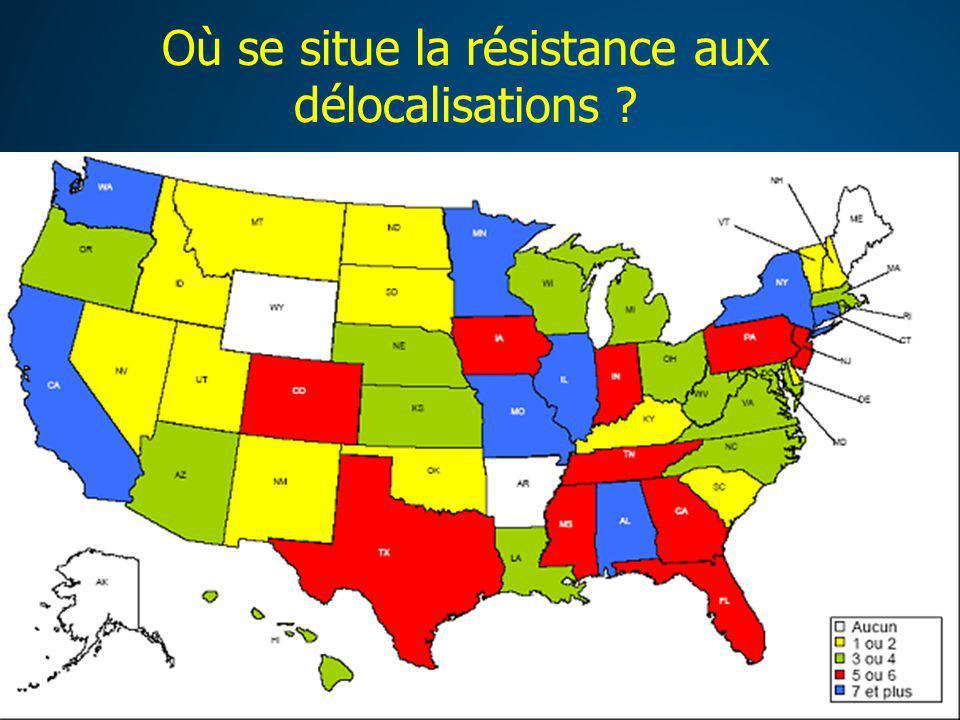 Où se situe la résistance aux délocalisations