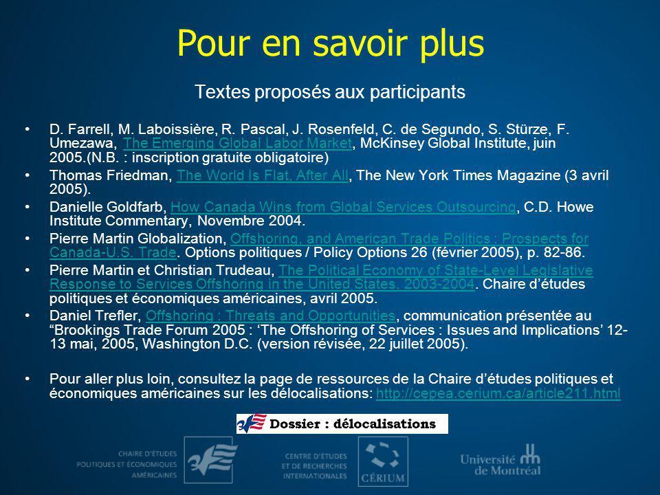 Textes proposés aux participants