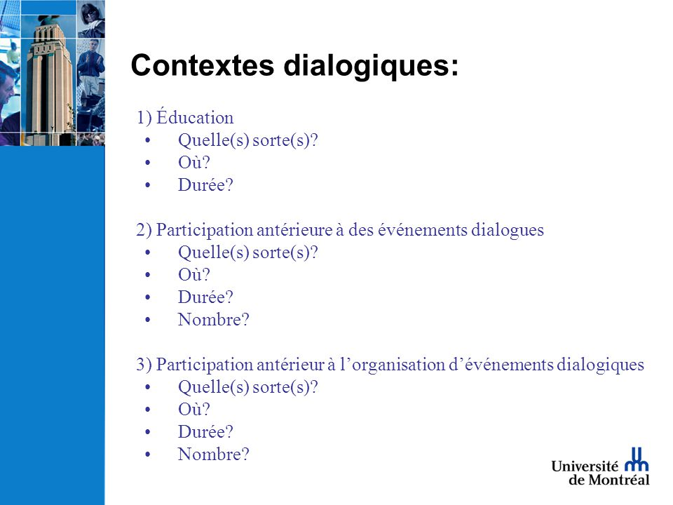 Contextes dialogiques: